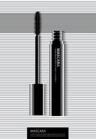 Plakat-kosmetische Wimperntusche mit Verpackungs-Vektor-Illustration