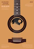 Ilustración de Vector de plantilla de fondo de cartel de concierto de guitarra