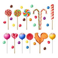Collection of lollipops with a variety  designs.