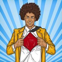 Super herói de pai de arte pop