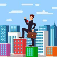 Chefe de empresário perspicaz