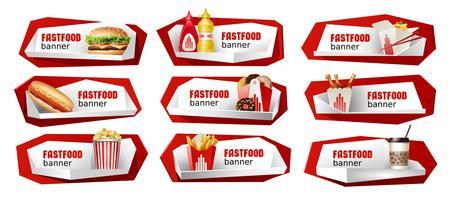 Set van fast food vector banners.