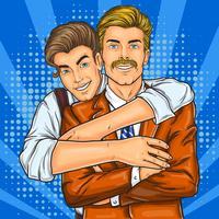 Porträtt av glatt gay par