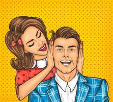 Femme ferme les oreilles à son homme