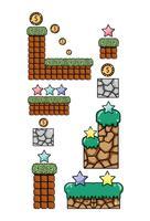 Set of retro videogames items