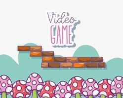 Escenario retro de videojuegos