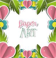 Papper konst landskap