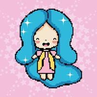 Pixel art ragazza carina