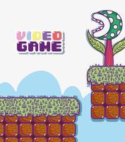 Retro videogame landskap