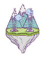 Pixelated videogame scenery
