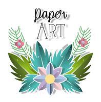 Paisagem de arte de papel