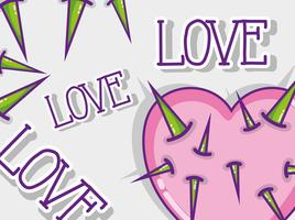 Love and hearts cartoons