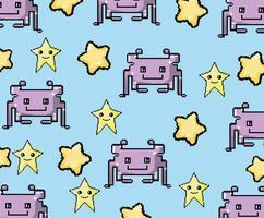 Pixel art videogame background