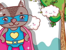 Superhero animal cartoon