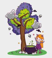 Dibujos animados lindos de Halloween