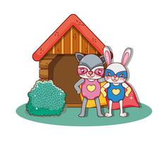 Superheld dieren cartoons