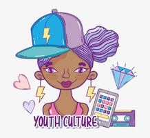 Youth culture millenial woman cartoon