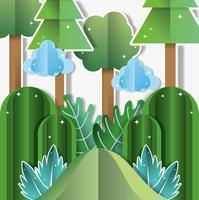 Desenhos de paisagem de papel