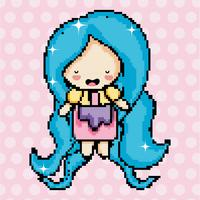 Pixel art cute girl