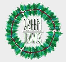 Quadro de folhas verdes