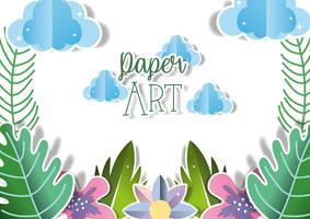 Papierkunst landschap