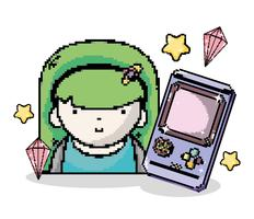 Pixel art-videogame