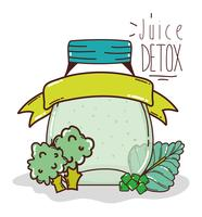detox juice cartoon