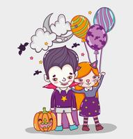 Halloween cute cartoons