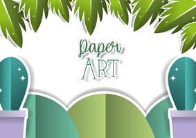 Paesaggio di arte di carta