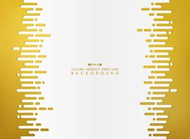 Golden abstraction of stripe line with white space background.