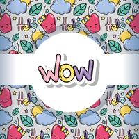 Wow pattern background