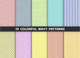 Abstracte moderne kleurrijke steellijn van de golvende vastgestelde inzameling van het patroonontwerp. Versieren voor boek, advertentie, drukwerk, tijdschrift, jaarverslag.