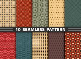 Abstract seamless pattern of geometric colorful set background.