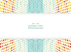 Abstract summer of colorful mesh dots pattern background with wide copy space.