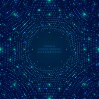 Abstract big data of blue square pattern grid futuristic digital background. vector