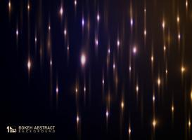 Abstract bokeh of light background with glitters decoration.