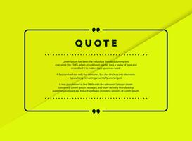 Abstract green paper cut quote vector design for speech text copy template design. vector eps10