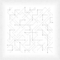 Abstract vector gray line geometric triangle square dotted tech minimal design cover. illustration vector eps10