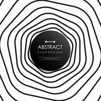 Abstract black and white stripe art line of circle pattern.