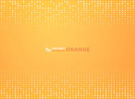 Abstract gradient orange color with circles halftone design background. illustration vector eps10