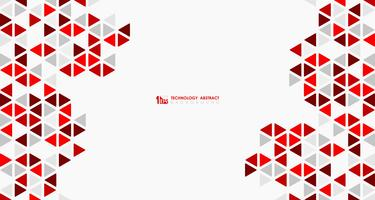 Abstract wide red cube of geometric hexagonal low pattern design technology. illustration vector eps10