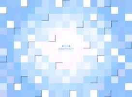 Abstract of blue gradient pixel square pattern background.