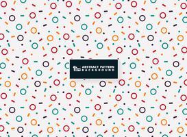 Diseño geométrico colorido abstracto del modelo de fondo moderno de los elementos. Decorando para artes pequeñas, puede usar para envolver, anuncios, imprimir, papel, ilustraciones.