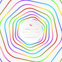 Abstract colorful stripe line pattern circle background with copy space.
