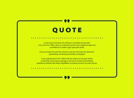 Abstract green quote vector design for speech text copy template design. vector eps10