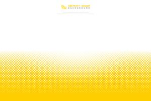 Abstract yellow color halftone minimal geometric pattern square decoration background. illustration vector eps10