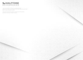 Abstract modern halftone of gradient white and grey background.