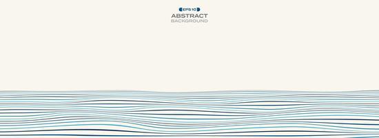 Extra ancho de nivel de color de fondo de patrón de línea ondulada franja azul
