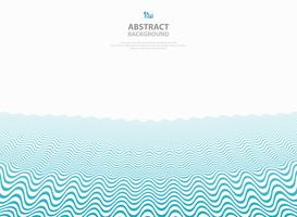 Abstract blue wavy pattern stripe lines ocean sea background.