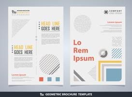Abstract colorful geometric brochure with text.  vector